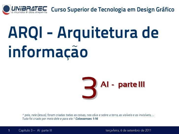 """3   AI -– parte III""""    """""""