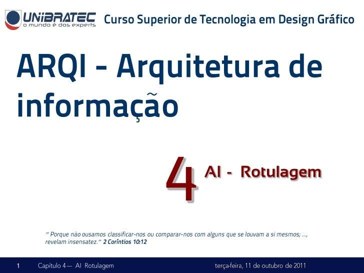 """4   AI -– Rotulagem""""    """""""