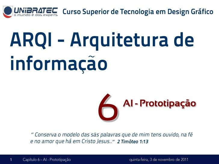 """""""    6   AI - Prototipação    """""""