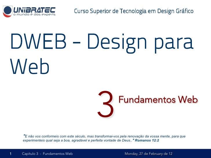 Unb   2012.1 - dweb - 03 - fundamentos web