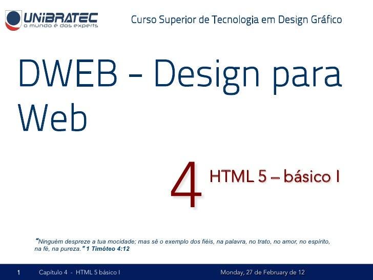 Curso Superior de Tecnologia em Design GráficoDWEB - Design paraWeb                                                    4  ...