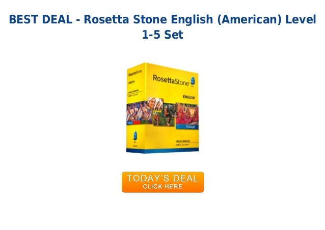 Unbeatable price rosetta stone english american level 1-5 set Rosetta Stone Login