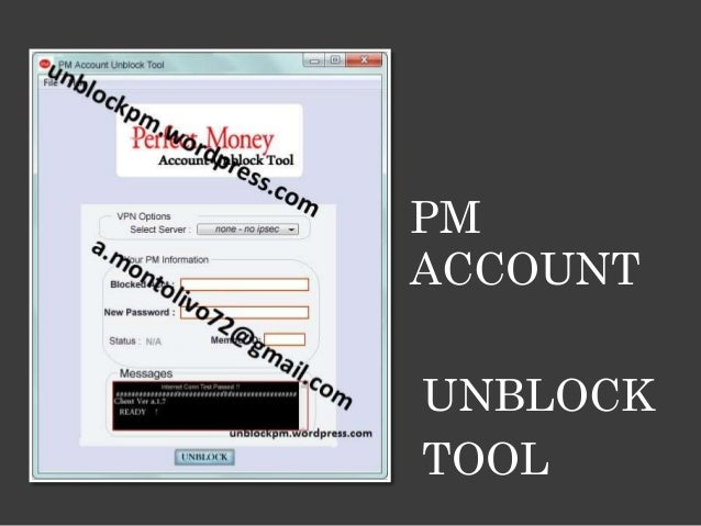 PM ACCOUNT UNBLOCK TOOL