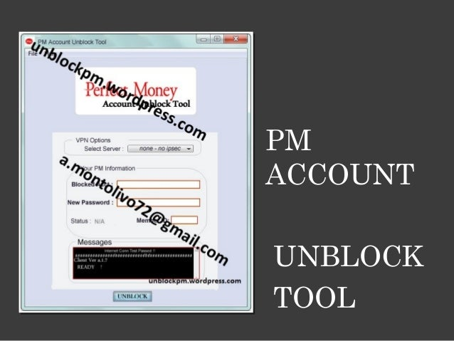 Unblock your PM account