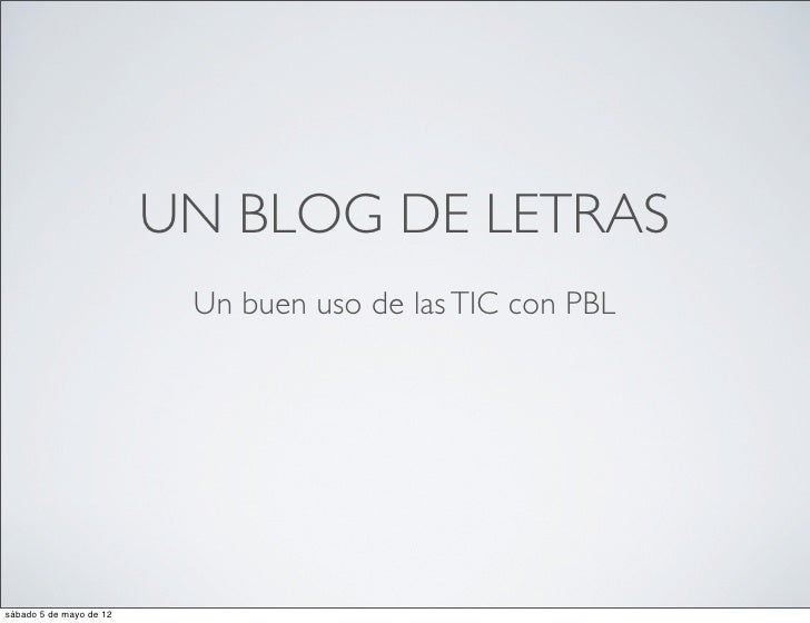 Un blog de letras