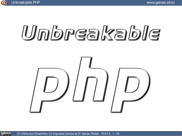 Unbreakeable php