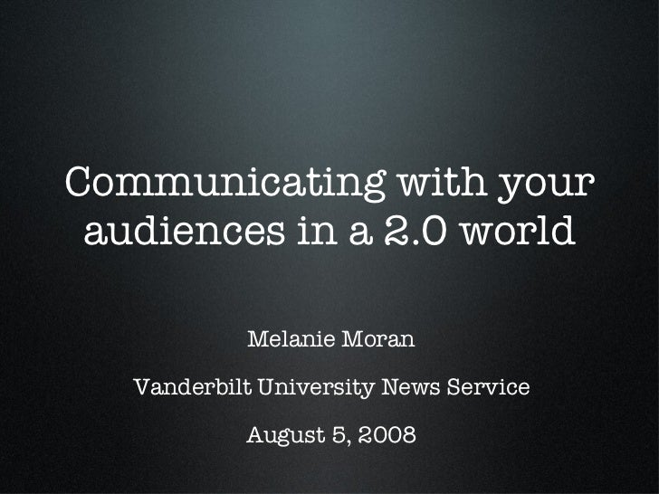 Presentation to University of North Carolina communicators on social media