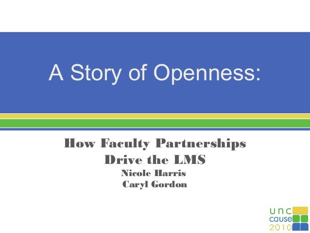 A Story of Openness: How Faculty Partnerships Drive the LMS at UNC Charlotte