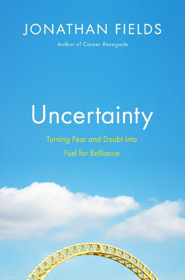 Uncertainty book excerpt