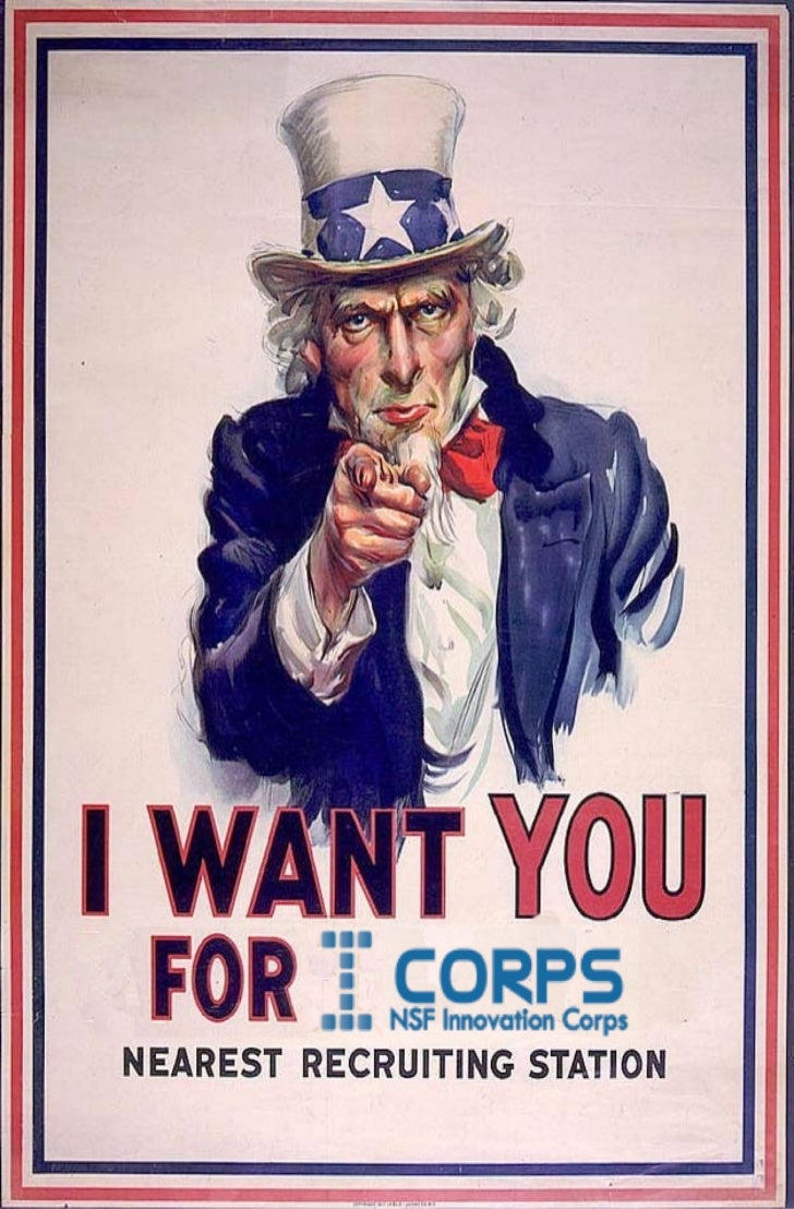 Uncle sam i corps recuriting poster
