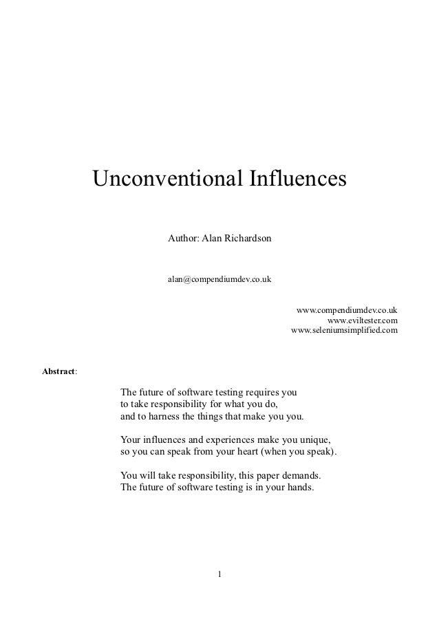 Unconventional Influences Paper