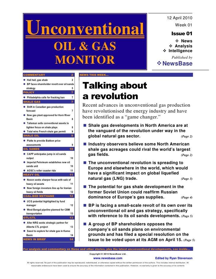 UOGM Launch Issue 12th April 2010 - Shale Gas Revolution