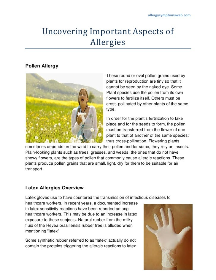 allergysymptomsweb.com         Uncovering Important Aspects of                    AllergiesPollen Allergy                 ...