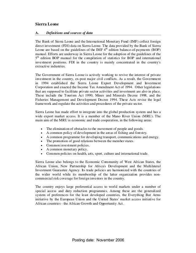 Sierra LeoneA.       Definitions and sources of dataThe Bank of Sierra Leone and the International Monetary Fund (IMF) col...