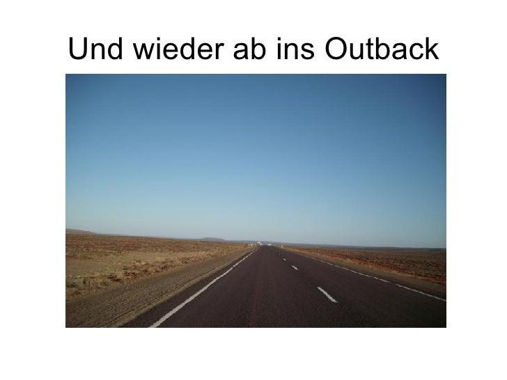 Und wieder ab ins Outback