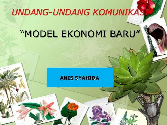 Model Ekonomi Baru