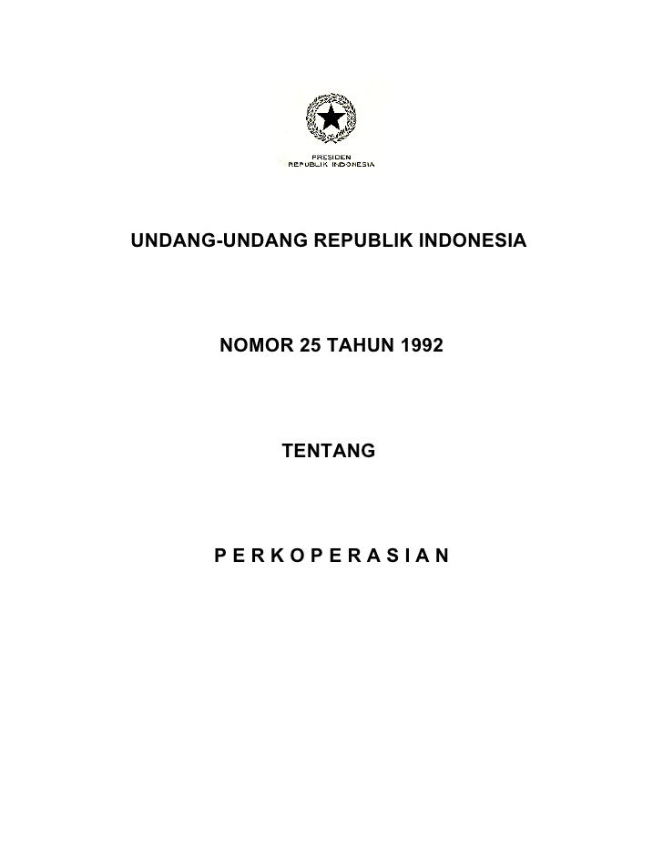 Undang undang  perkoperasian