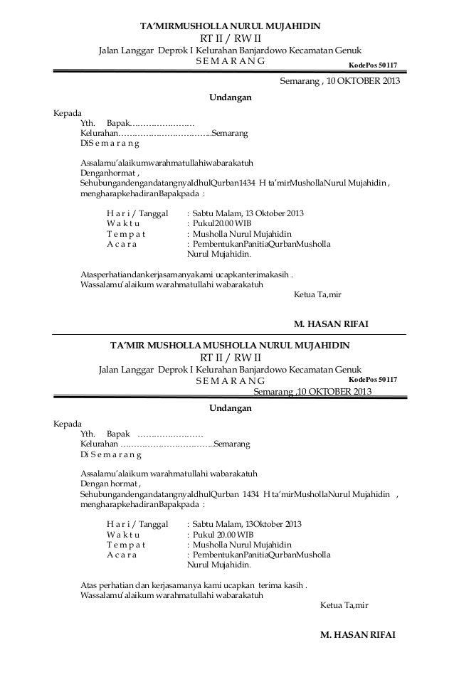 contoh surat undangan contoh surat surat resmi surat read sources
