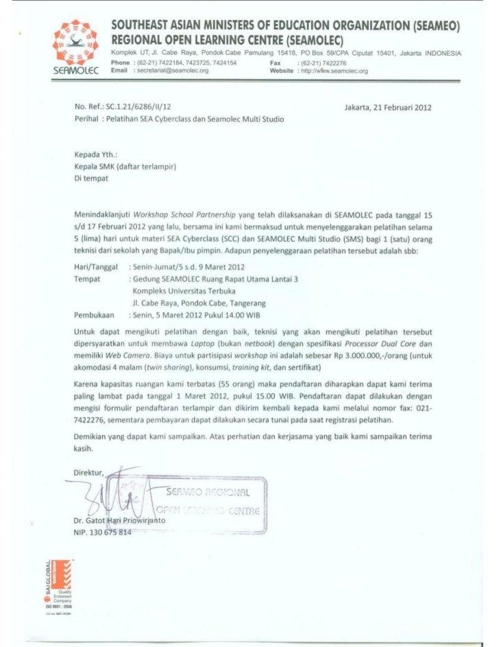 Undangan Diklat SCC + SMS 5-9 Maret 2012