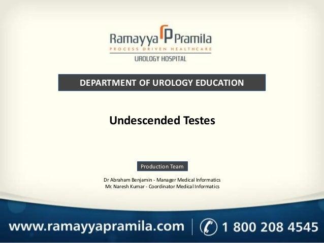 Undecended testes