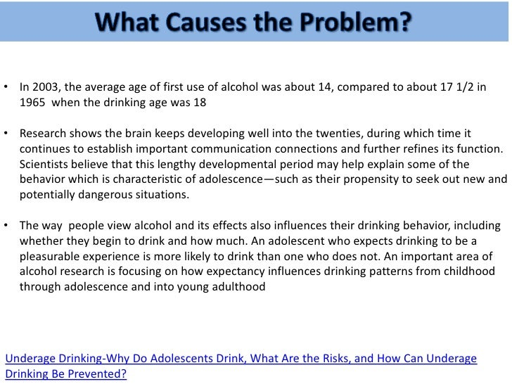 Some CAUSES of underage drinking?