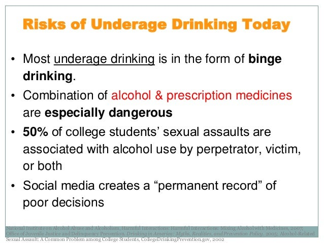 Underage drinking for Florida department of motor vehicles drug and alcohol test