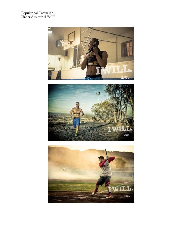 "Popular Ad CampaignUnder Armour ""I Will"""
