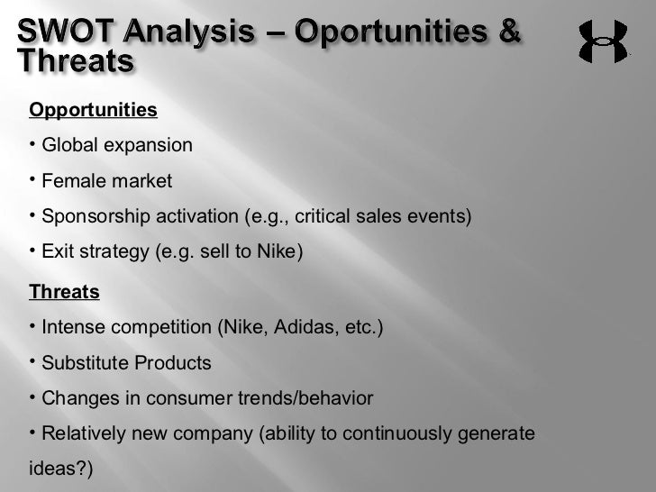 nike threats and oppurtunities Looking for the best starbucks corporation swot analysis click here to find out starbucks' strengths, weaknesses, opportunities and threats.