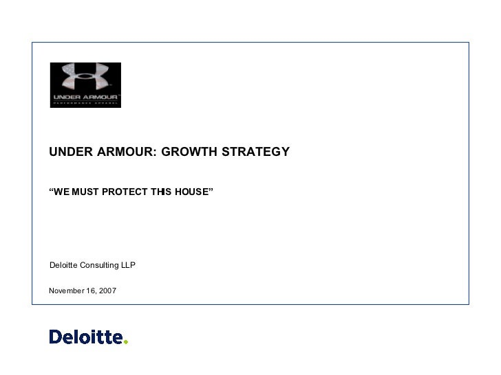 Under Armour Sample - DO NOT DISTRIBUTE OR SHARE