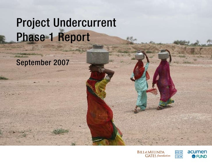 Project Undercurrent Phase 1 Report  September 2007    [Title]