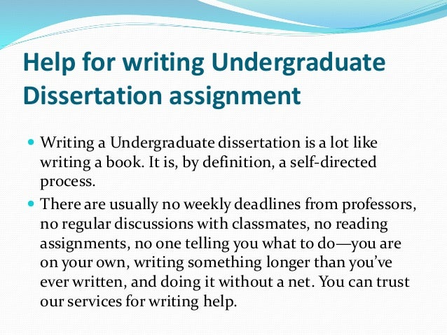 types of undergraduate dissertations Types of information theses & dissertations a theses or dissertation is the extended body of research produced by students for a higher degree such as a masters of phd or an extended essay undertaken as part of an undergraduate program of study.