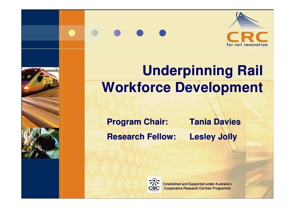 Underpinning Rail Workforce Development