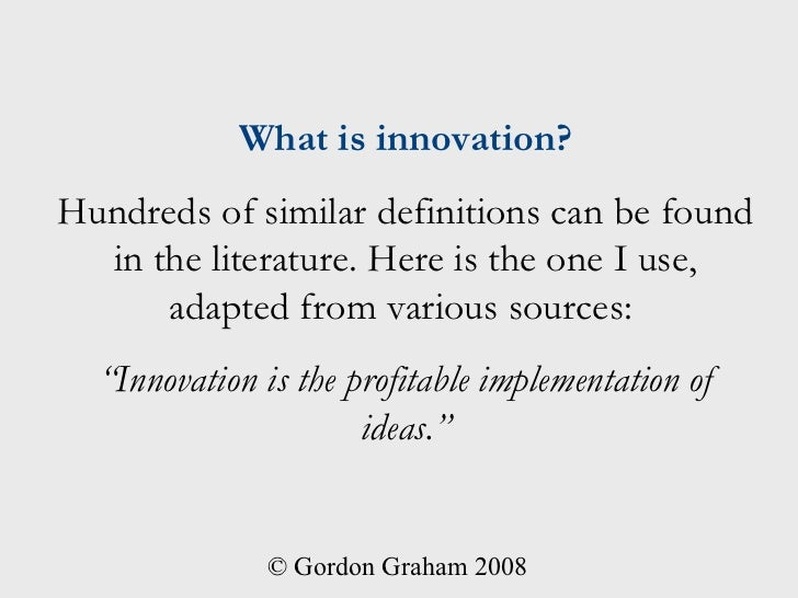 innovation is the - photo #44