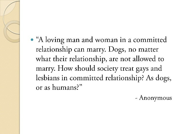thesis statement against same sex marriage
