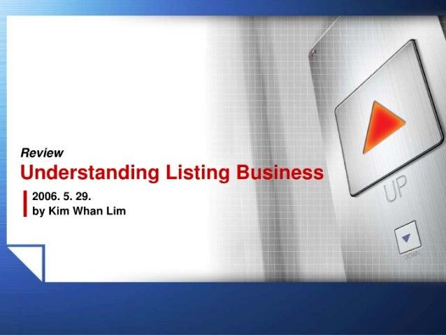 Understanding Listing Business