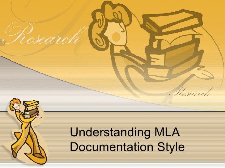 Understanding MLA Documentation Style