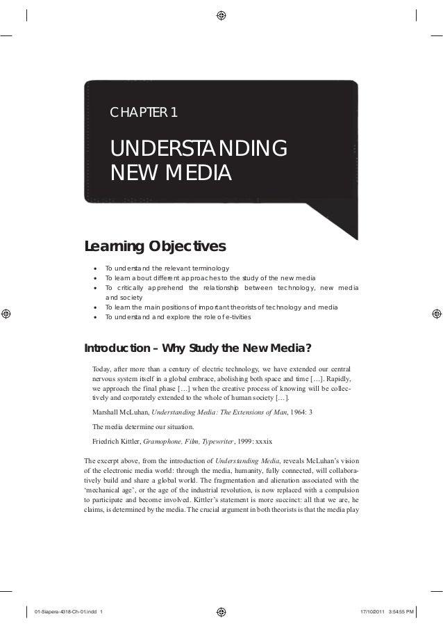 CHAPTER 1                                UNDERSTANDING                                NEW MEDIA                    Learnin...