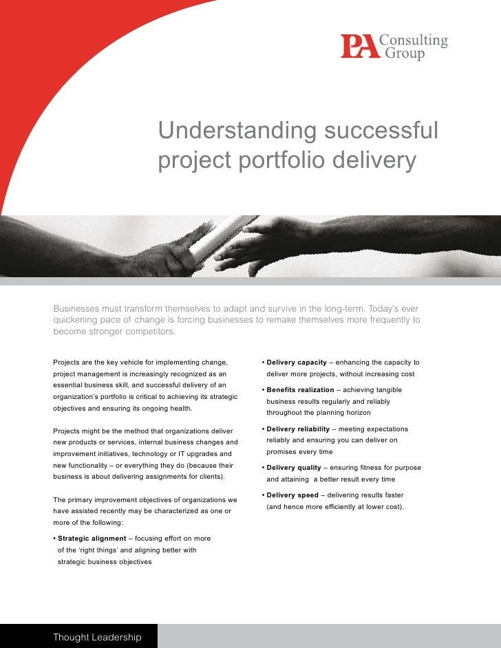 Understanding successful                                    project portfolio delivery     Businesses must transform thems...