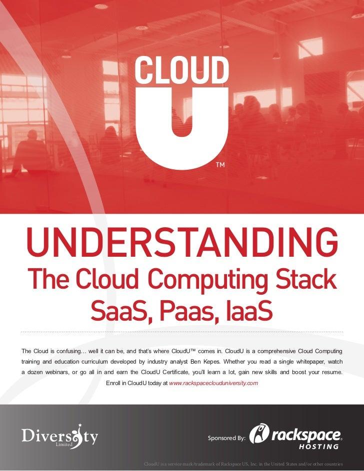 Understanding the Cloud Computing Stack