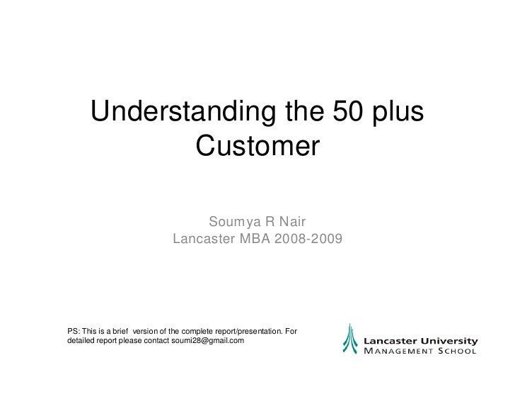 Understanding 50 Plus Summary