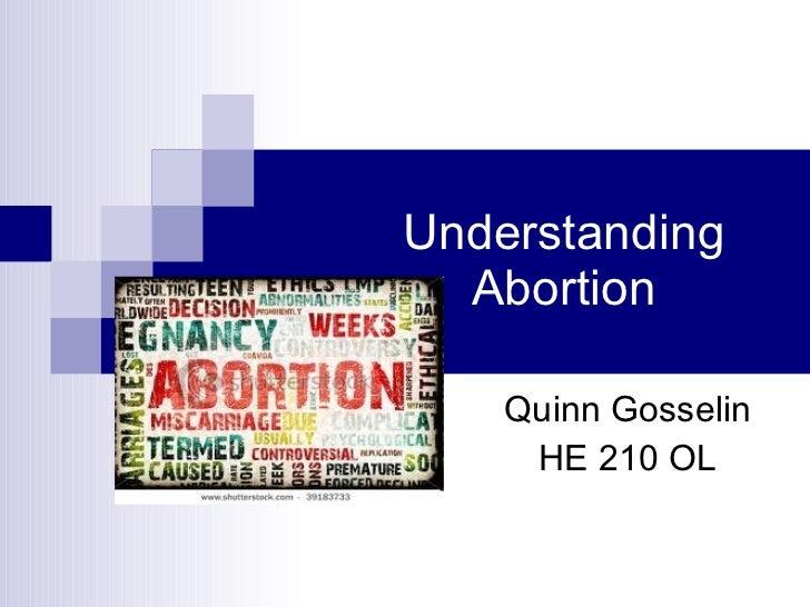 Understanding abortion
