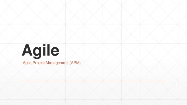 Agile Agile Project Management (APM)
