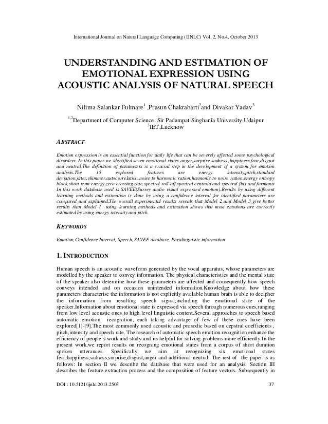 Understanding and estimation of