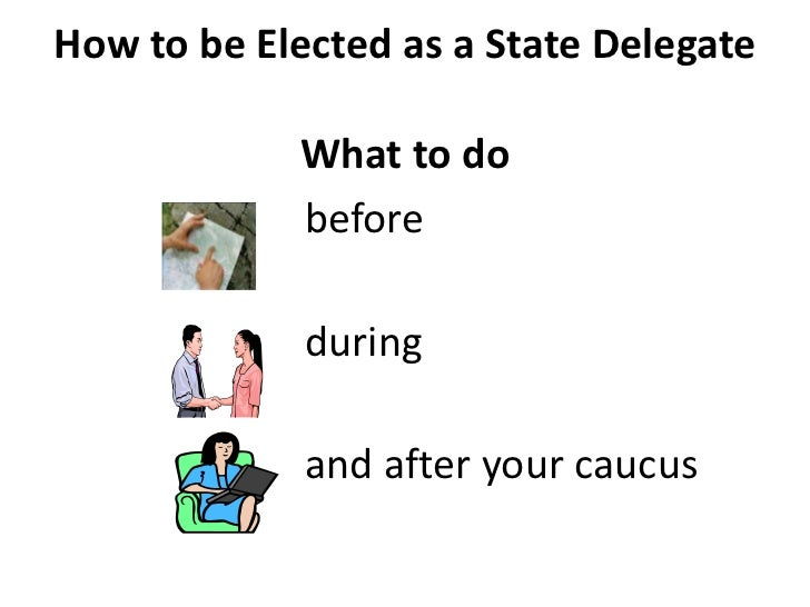 How to be Elected as a State Delegate            What to do            before             during             and after you...