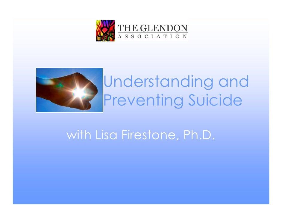 Understanding and preventing suicide september 2010