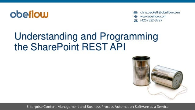 Understanding and programming the SharePoint REST API