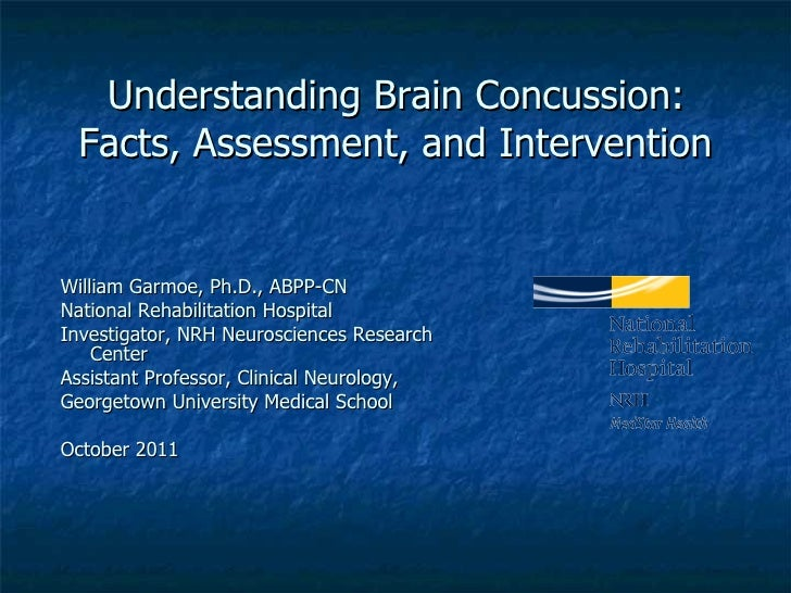 Understanding Brain Concussion: Facts Assessment and Intervention