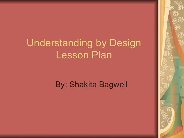 Understanding By Design Lesson Plan Pp