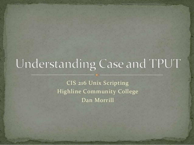 Understanding UNIX CASE and TPUT