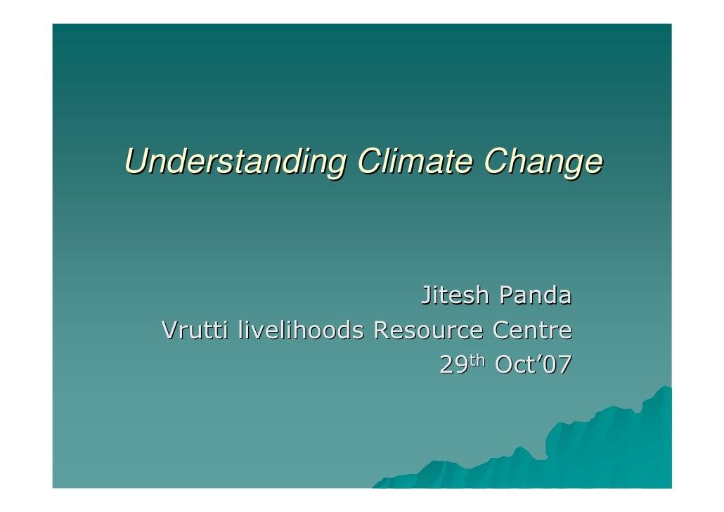 Understanding Climate Change 291007